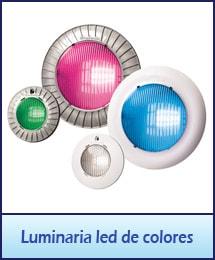 Luminaria led de colores y blanco para alberca